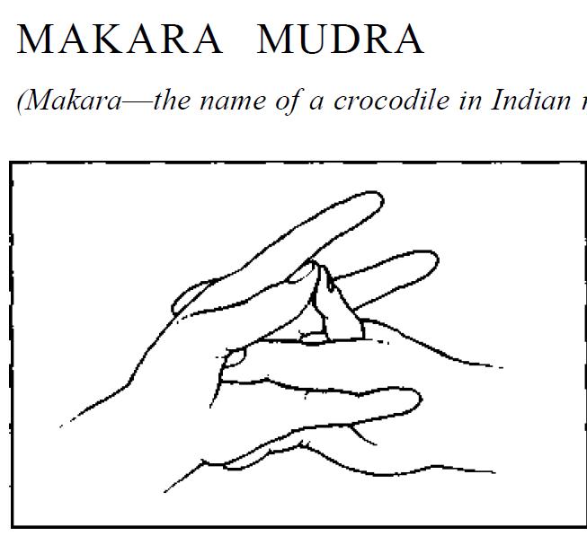 35 makara crocodile mudra