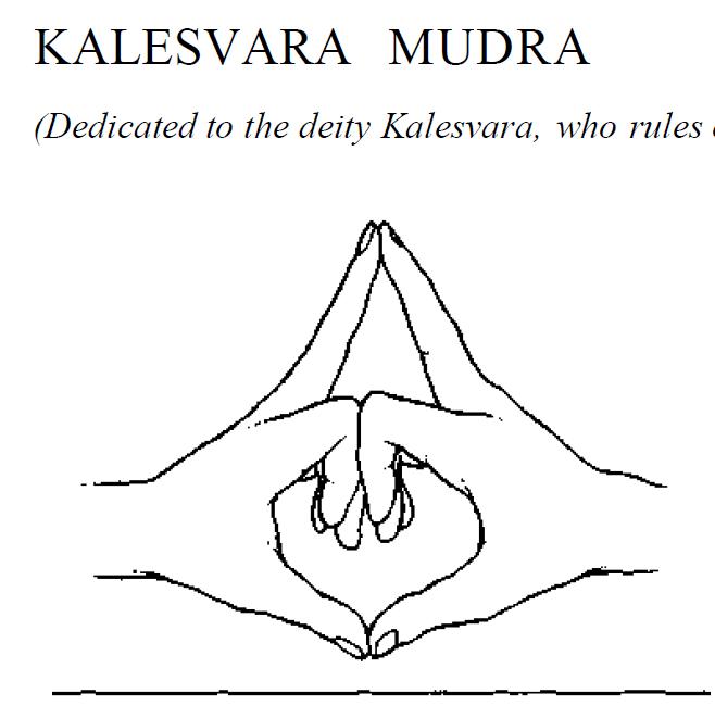 38 kaleshwara ruler of time mudra