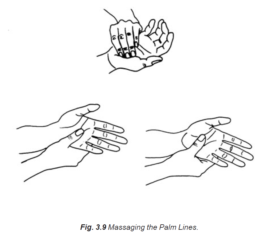 3.9 massaging the palm lines