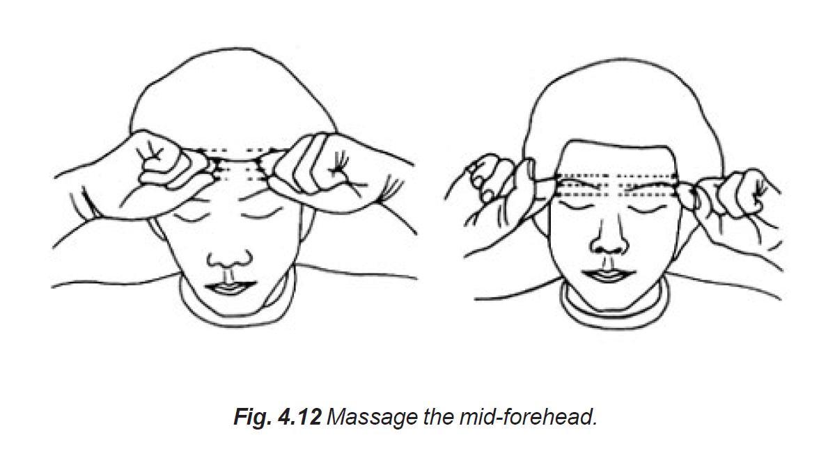 4.12 mid-forehead massage