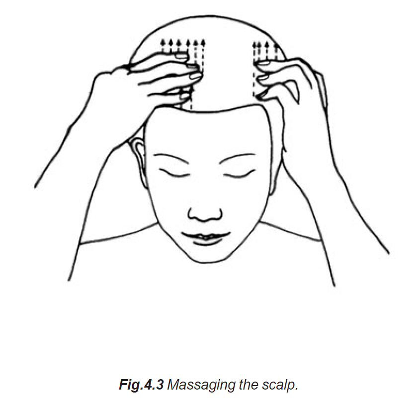 4.3 massaging the scalp