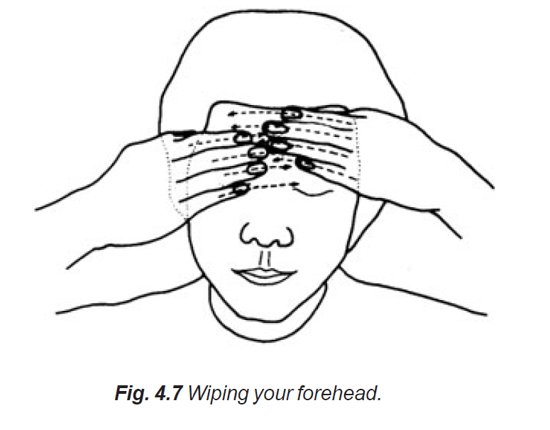 4.7 wiping your forehead