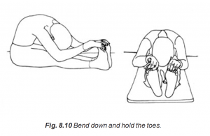 8.10 bend down and hold the toes