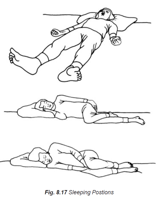 8.17 sleeping positions