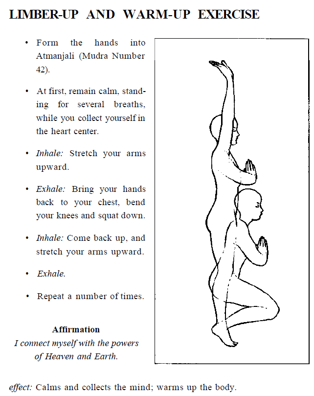 limber up & warm up exercise