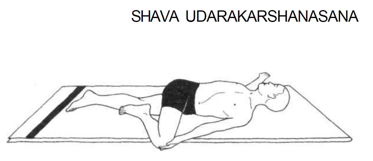 shava udarakarshanasana universal spinal twist 7