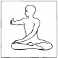 twist in the seated meditation mudra