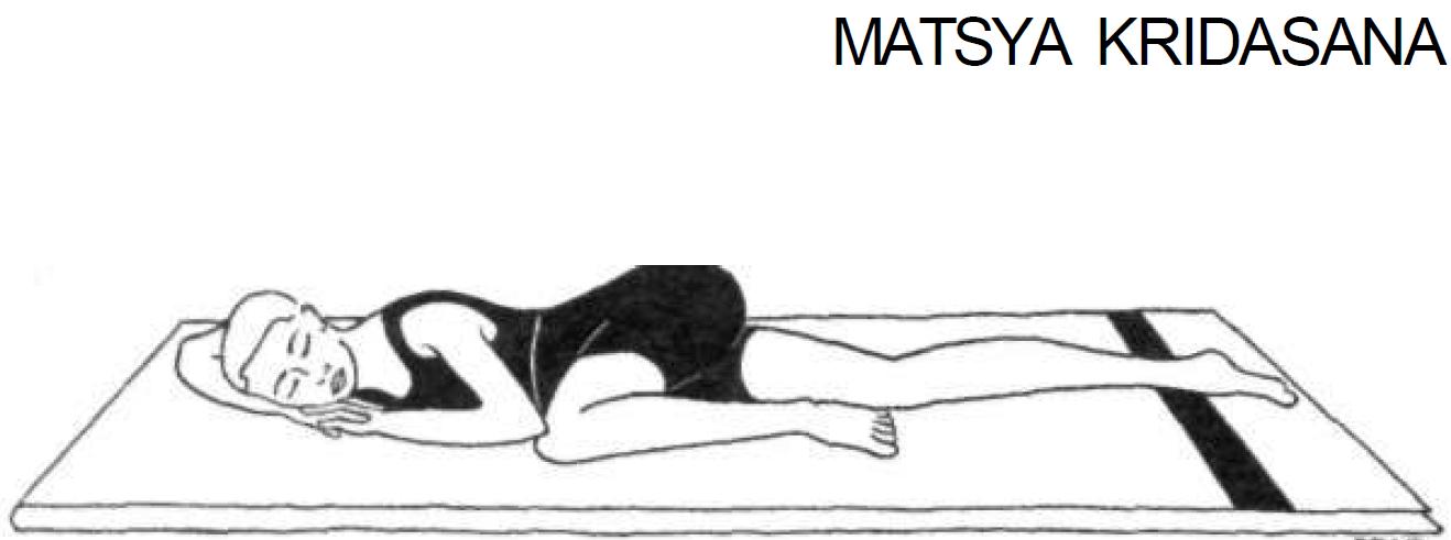 5 matsya kridasana