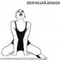 5 simhagarjanasana