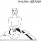 6 dhyana veerasana