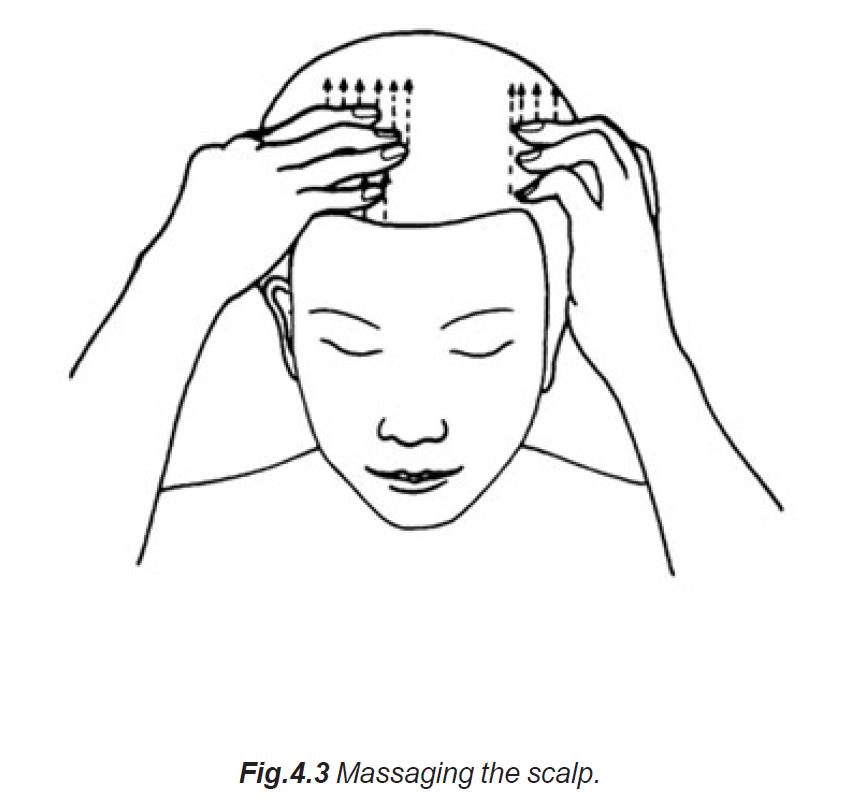 4.3 massaging the scalp